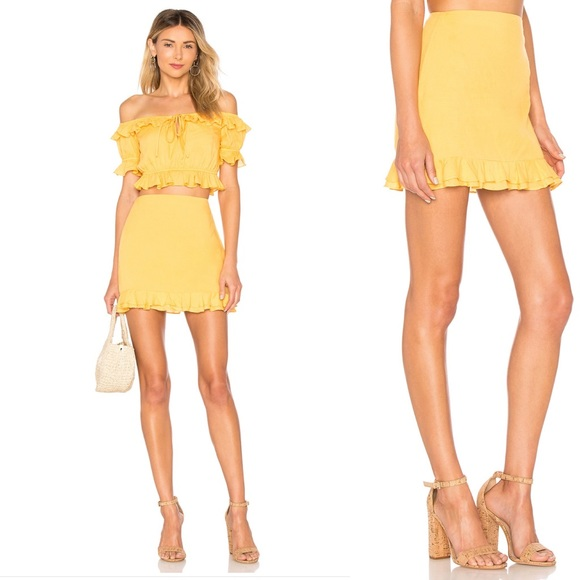 Privacy Please Dresses & Skirts - NWT Privacy Please Yellow Morgan Ruffle Skirt